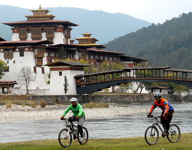 Image result for biking Bhutan